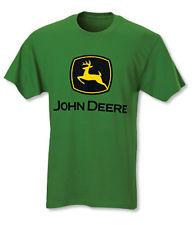 NEW John Deere Black Long Sleeve T-Shirt NRLAD Slogan on Sleeve S M 3X