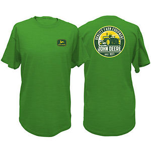 Men-039-s-John-Deere-034-Quality-Farm-Equipment-034-T-Shirt-Green