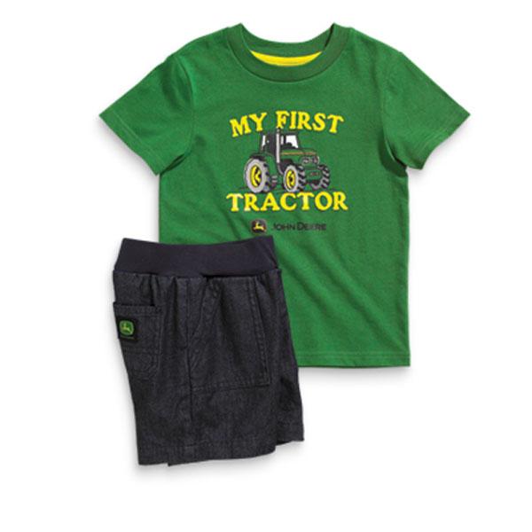 John Deere Adult T Shirts > John Deere Green Quality Farm Tractor T ...