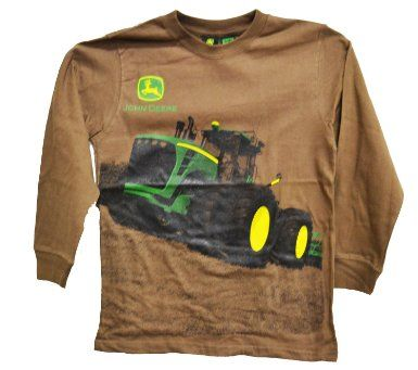 John Deere Longsleeved Youth Tractor T-Shirt Brown: Amazon.com ...