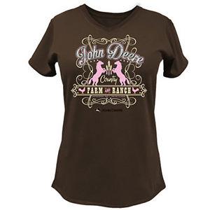 Ladies John Deere Farm and Ranch T-Shirt (Brown)