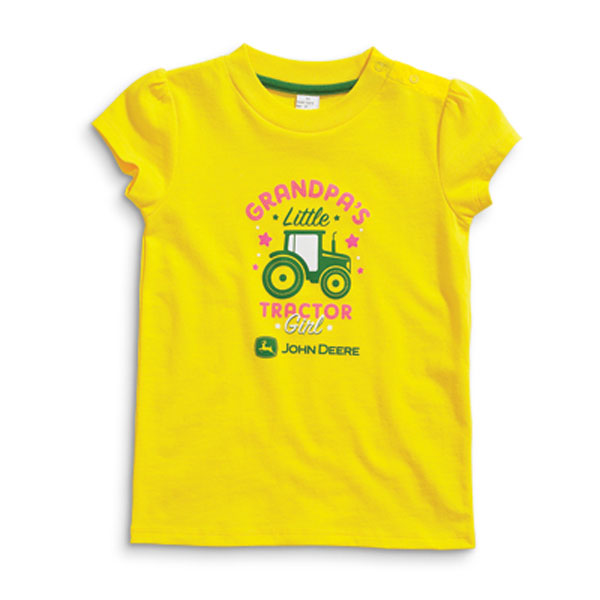 John Deere Grandpa's Little Tractor Girl Infant T-Shirt - JSGT009Y1F1