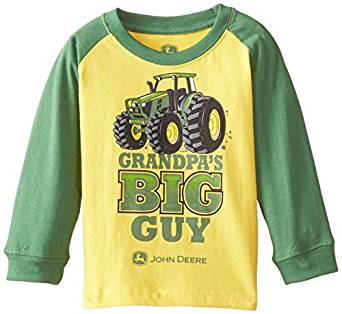Amazon.com: John Deere Baby Boys' Grandpa's Big Guy T Shirt, Yellow ...