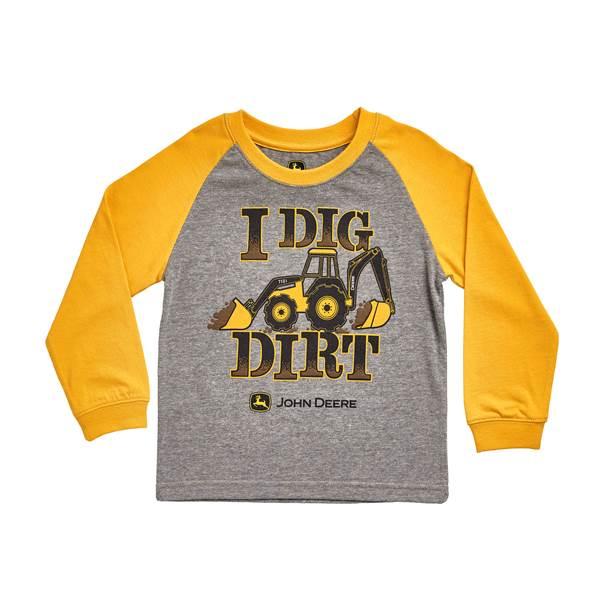 John Deere Baby Boys' Long Sleeve 'I Dig Dirt' Tee
