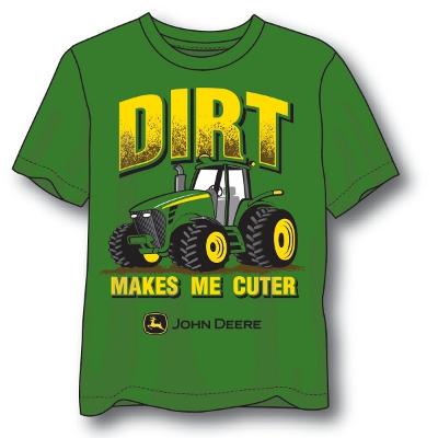 John Deere Collectibles And Giftsjohn Deere Green Boys Dirt T Shirt ...