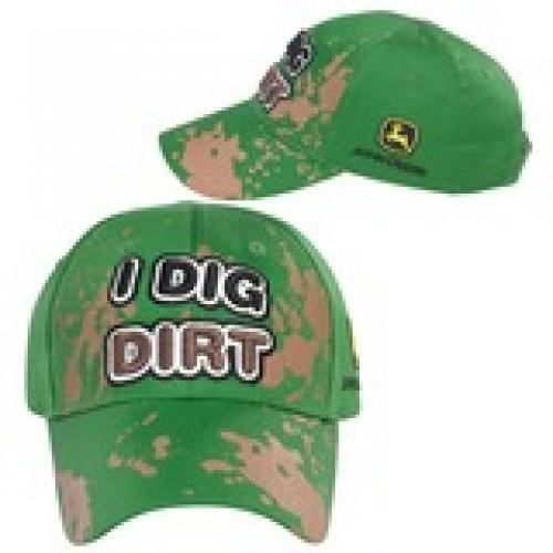 JOHN DEERE HAT Toddler I Dig Dirt Green LP43528