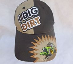 Embroidered John Deere I Dig Dirt Tractor Baseball Hat in Clothing ...