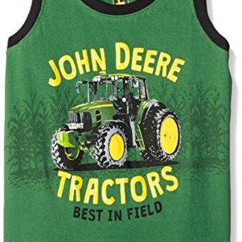 John Deere Little Boys' Tractors Sleeveless T-Shirt, Green, 4T