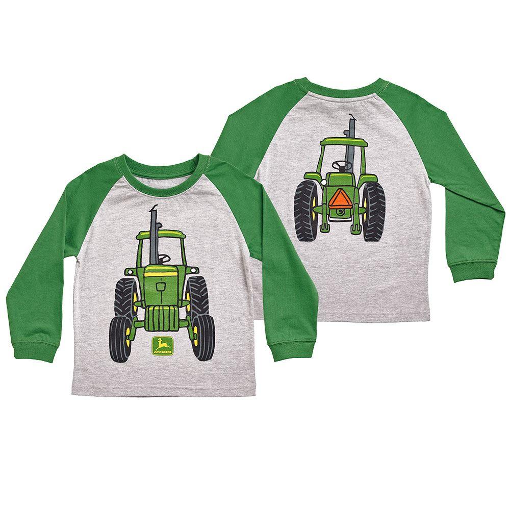 John Deere Toddler Big Tractor T-Shirt, Long Sleeve (John Deere ...