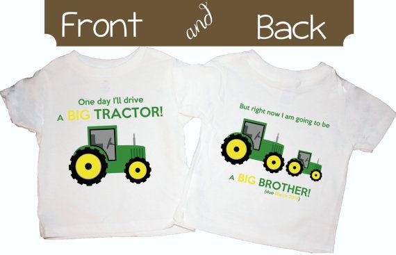 John deere, Big brother shirts and John deere tractors on Pinterest