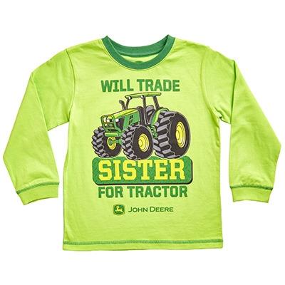 John Deere Boy's Lime Green Trade Sister Long Sleeve Shirt ...