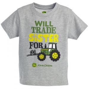John Deere Toddler Will Trade Sister Tee - Heather Gray by John Deere ...