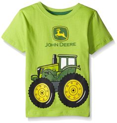 John Deere Little Boys' Big Tractor T-Shirt, Lime Green, 2T