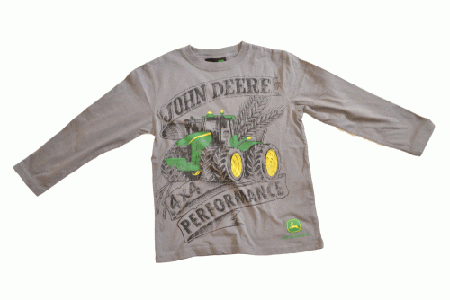 ... Deere Kids Clothing > John Deere Youth Longsleeve Grey Performance T