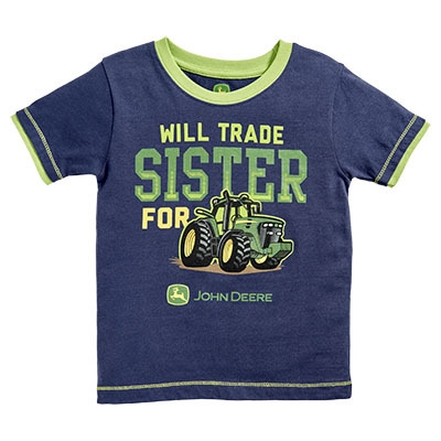 John Deere Infant Boy's Navy Trade Sister Tee | WeGotGreen.com