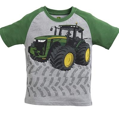 John Deere Boy's Gray Tractor Tread Tee   WeGotGreen.com