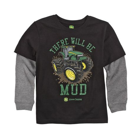 Tees - John Deere Boys There Will Be Mud Long Sleeve T-shirt from ...
