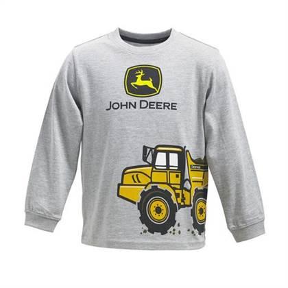 ... Shirts & Tops > John Deere Boys Dump Truck Wrap Long Sleeve T-shirt