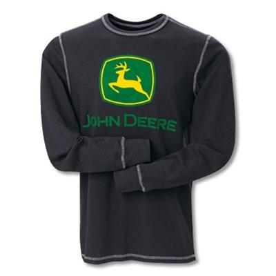 John Deere Black Thermal Long Sleeve T-Shirt $38.88