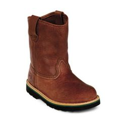 Infant's Walnut Leather Wellington Boot (DPBJD1213) John Deere Johnny ...