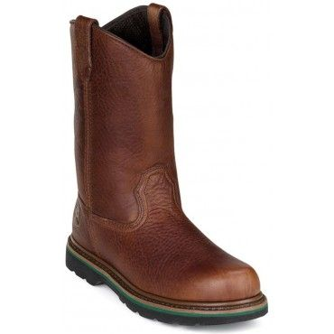John Deere JD4193 Men's 11-in Wellington Boot Walnut Tumbled and Oiled ...