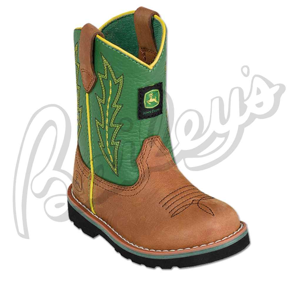 ... deere jd1186 baby toddler john deere green tan leather wellington boot