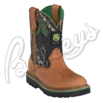 John Deere Jd2188 Children's Wellington Boot In Tan & Camo   Camo ...