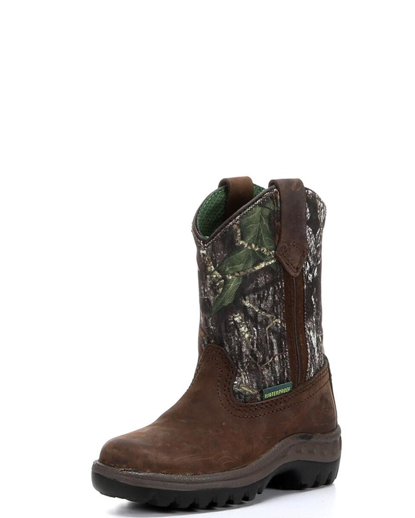 Boy's Waterproof Pull-On Boot - Mossy Oak,