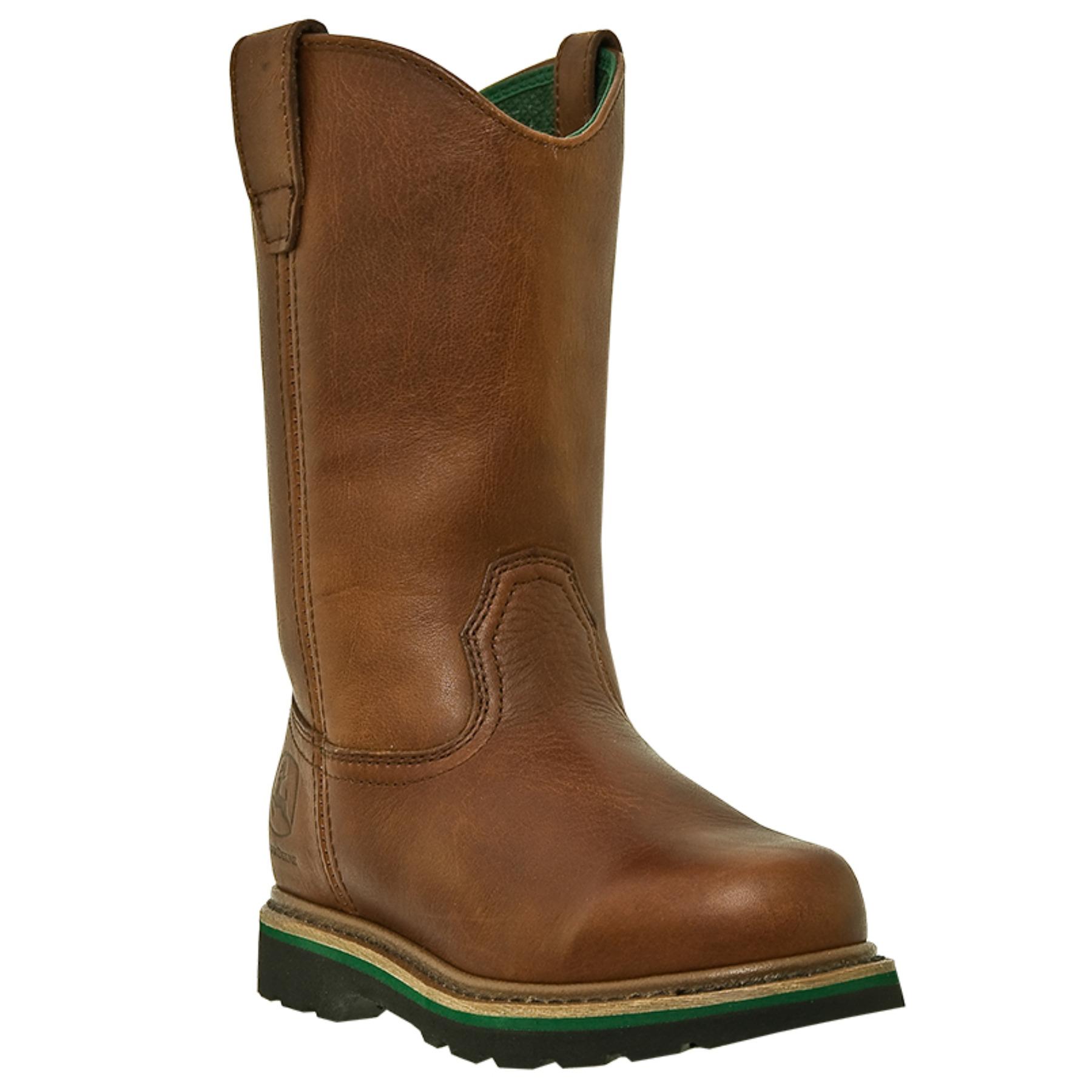John Deere John Deere Wellington Tractor Series Men's Leather Boots ...