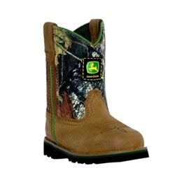 Baby/Toddler Camo & Tan John Deere Wellington Boot