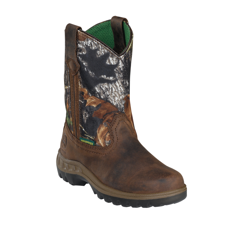 Details about John Deere Youth Boys Mossy Leather Waterproof Pull-On ...