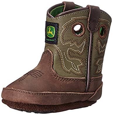 John Deere JD0336 Pull-On Boot (Infant/Toddler), Saddle Tan, 0 D US ...
