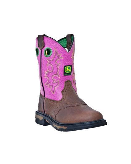 Kid's Saddle Vamp Pull-On Boot - Dark Brown,