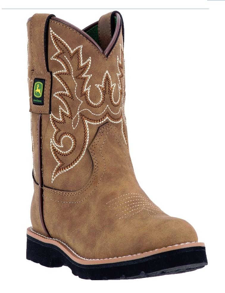 John Deere Children's Tan Round Toe Boots JD2031 by Dan Post Boot Co ...