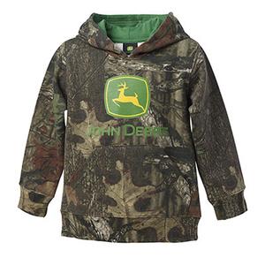 Boys John Deere Green Pull Over Fleece With Hood