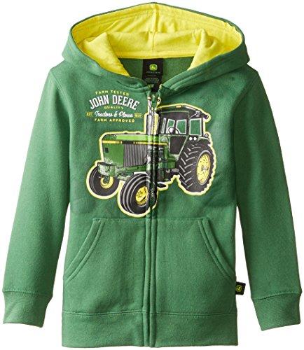 John Deere Little Boys' Tractors and Plows Fleece Hooded Sweatshirt ...