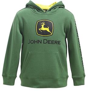 John Deere Boy's Green Logo Hooded Sweatshirt | WeGotGreen.com