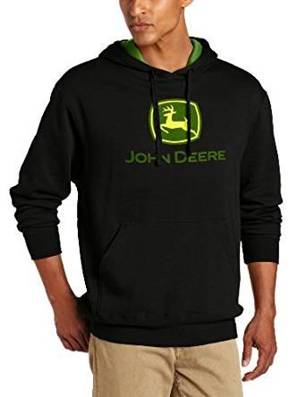 John Deere Men's Trademark Logo Core Hood Pullover Fleece at Amazon ...