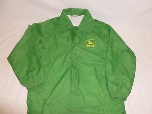 Vtg-Youth-Boys-John-Deere-Green-Wind-Breaker-Nylon-Light-Farmer-Jacket ...