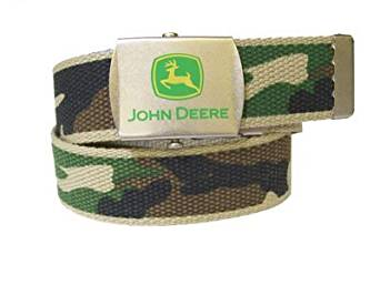 ... .com: John Deere Boys Canvas Camo Belt (20): Apparel Belts: Clothing