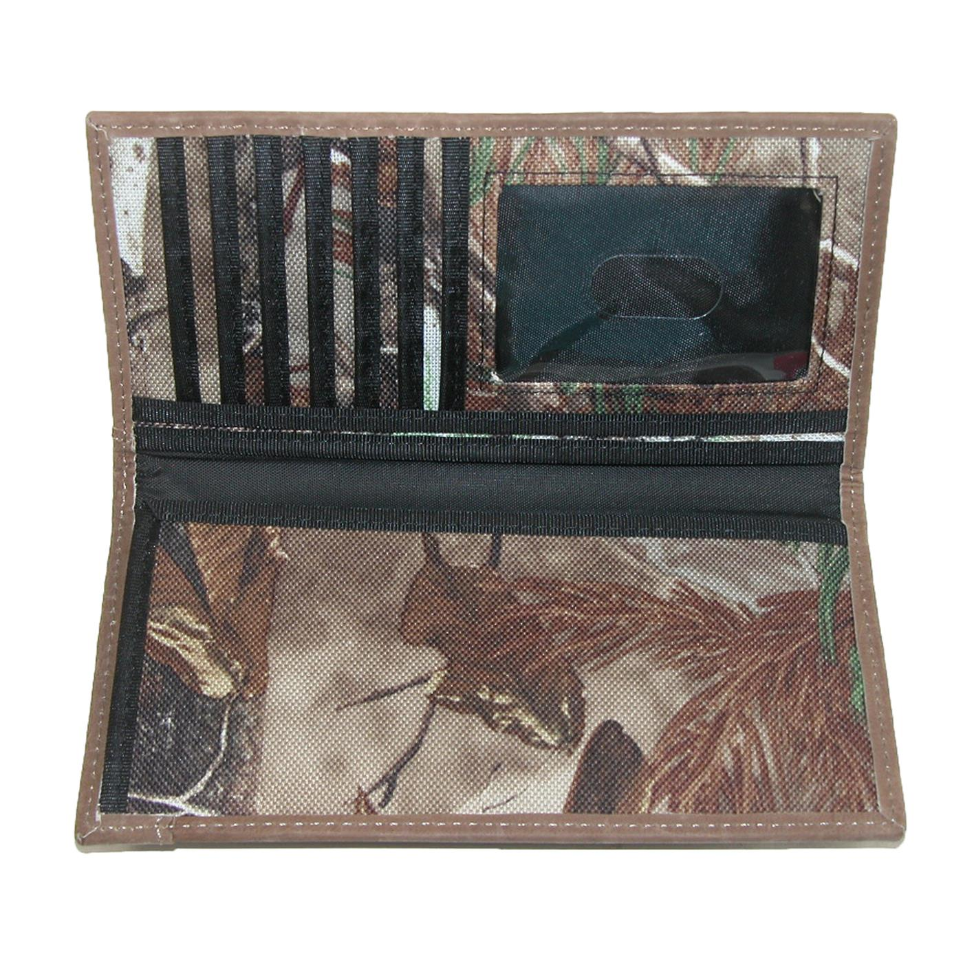 Mens Canvas RealTree Camouflage Checkbook Cover by John Deere ...