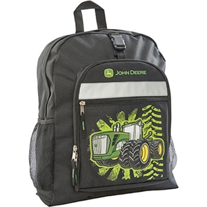 John Deere Black Tractor Burst Backpack | WeGotGreen.com