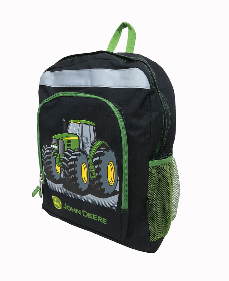 Black John Deere Tractor Backpack | John Deere Kids | Pinterest | John ...