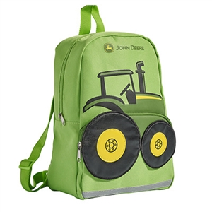 John Deere Toddler's Lime Green Tractor Backpack | WeGotGreen.com