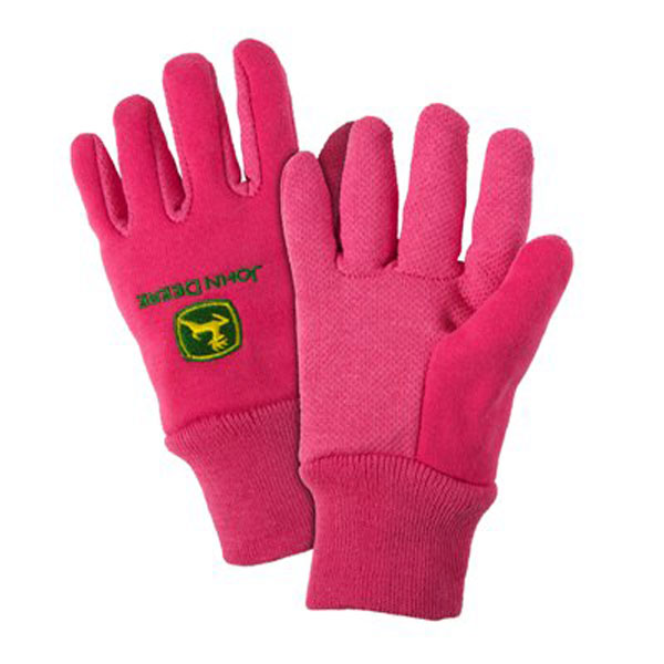 John Deere Youth Light-Duty Cotton Grip Glove - LP42388