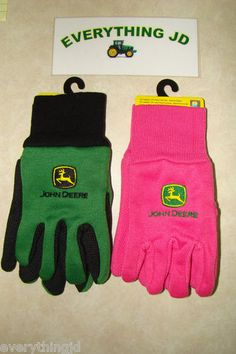 Youth John Deere Lightweight Work Gloves Pink or Green LP42386 88 ...