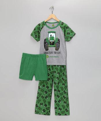 John Deere Green Tractor Tough Pajama Set - Toddler & Boys   zulily