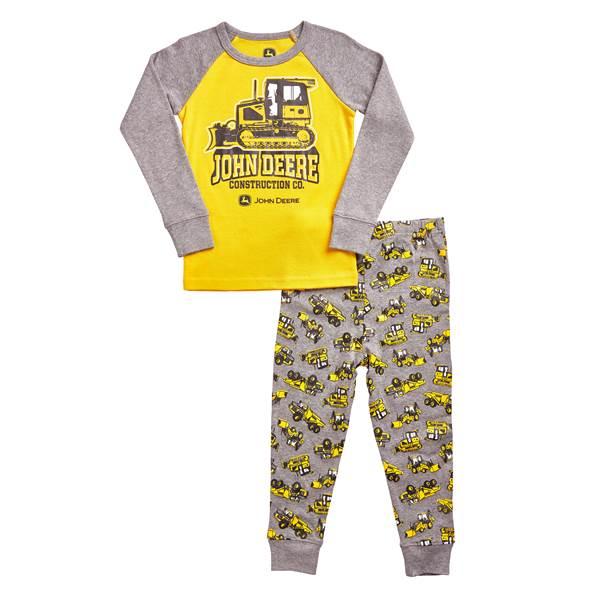 John Deere Toddler Boys' Construction Yellow & Medium Heather Gray ...