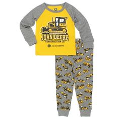... SHIPPING on all orders! #JohnDeere #Construction #Pajamas #Tractors