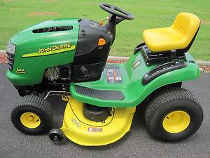 John Deere L 110 Riding Lawn Mower Tractor 42 034 Deck Kohler Command Engine Nice | eBay